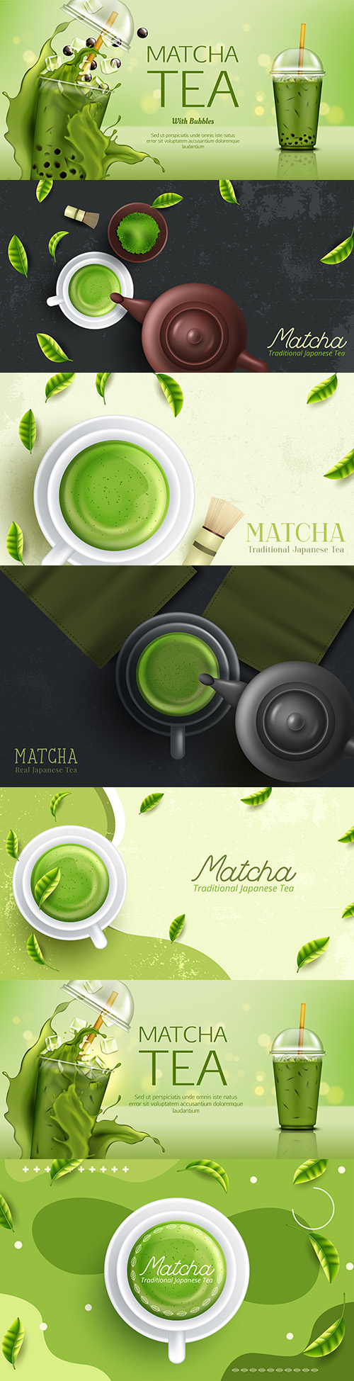 Green matte drink and tea accessories Japanese ceremony