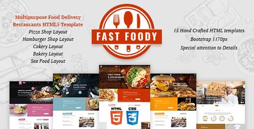 ThemeForest - Fast Foody v1.0 - Multipurpose Restaurants HTML5 Template - 24142664