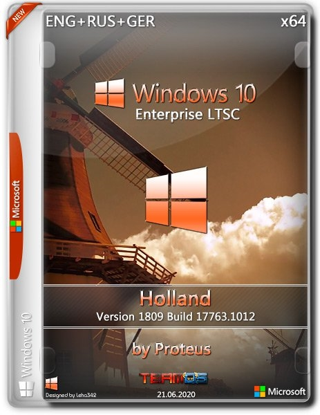 Windows 10 Enterprise LTSC 1809 Holland by Proteus (x64) (2020) =Eng/Rus/Ger=