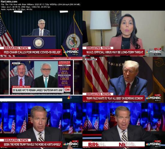 The 11th Hour with Brian Williams 2020 05 13 720p WEBRip x264 LM