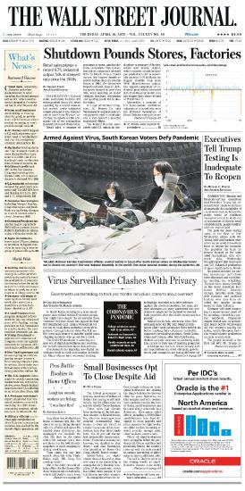 The Wall Street Journal - 16 04 (2020)