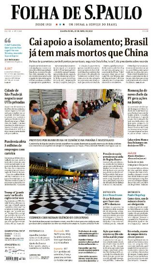 Folha de S.Paulo - 29 04 (2020)