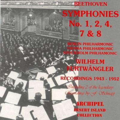Wilhelm Furtwängler & Vienna Philharmonic Orchestra - Beethoven   Symphonies No.1,2,4,7 & 8 (Rec...