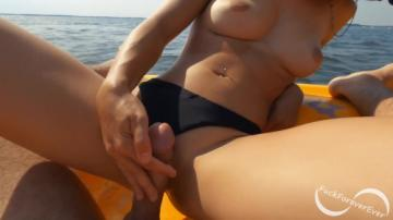 Hot girlfriend jerks me off and rides my dick out on the water - FuckForeverEver (2020) 1080p